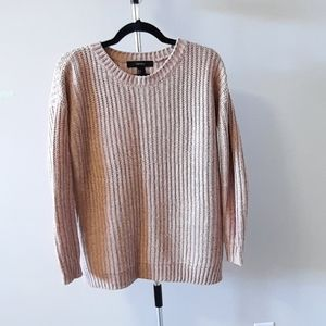 Forever 21 blush pink and cream knitted sweater